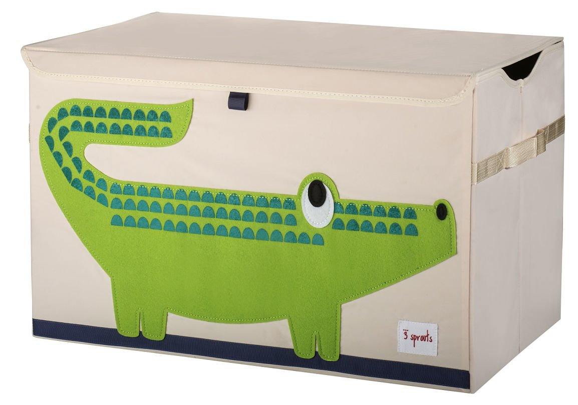 3 Sprouts Crocodile Toy Chest, Green
