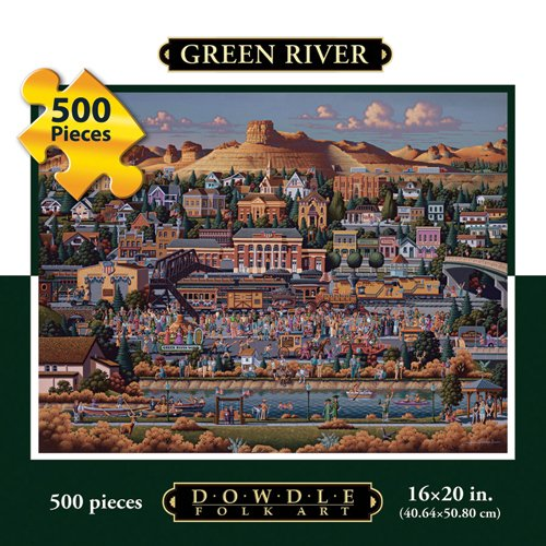 Cheap Fun Dowdle Folk Art Green River, WY 500pc 16×20  Puzzles (B004V08JEY)