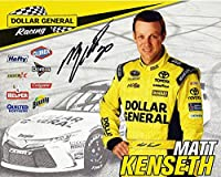 AUTOGRAPHED 2015 Matt Kenseth #20 Dollar General Racing (Gibbs Team) Signed 8X10 Picture NASCAR Hero Card with COA
