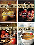 Wind & Willow Sweet Fall/Winter Holiday Cheeseball and Dessert Mix Bundle: Apple Pie, Caramel Apple, Pumpkin Pie, and Creme Brulee (4 Packs Total)