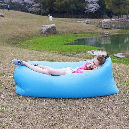 [해외]빠른 팽창 에어백 소파 캠핑 침대 행 아웃 콩 가방은 게으른 안락-PURPLE 자/Fast Inflatable Air Bag Sofa Camping Bed Hangout Bean Bag Sleeping Lazy Lou