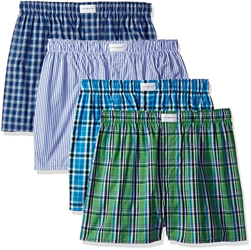 tommy-hilfiger-mens-4-pack-promo-assorted-boxers-green-blue-x-large