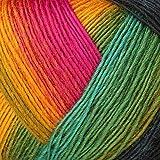 Lana Grossa Meilenweit Magico II 3509 Gelb/Orange/Pink/Türkis/Blau/Grün