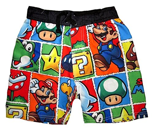 Nintendo Super Mario Brothers Boy's Swim Trunks
