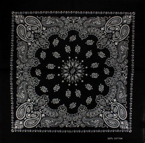 Bandana-Bandanas-mit-exclusivem-Paisley-Muster-in-reiner-Baumwolle