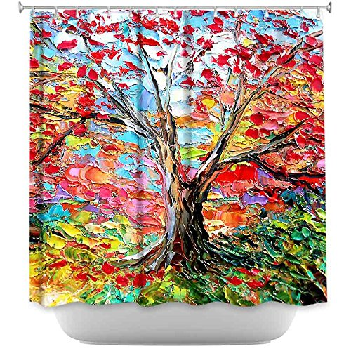 DiaNoche Designs Shower Curtains by Aja-Ann Soura Unique, Cool, Fun, Funky, Stylish, Decorative Home Decor and Bathroom Ideas - Story of the Tree 59