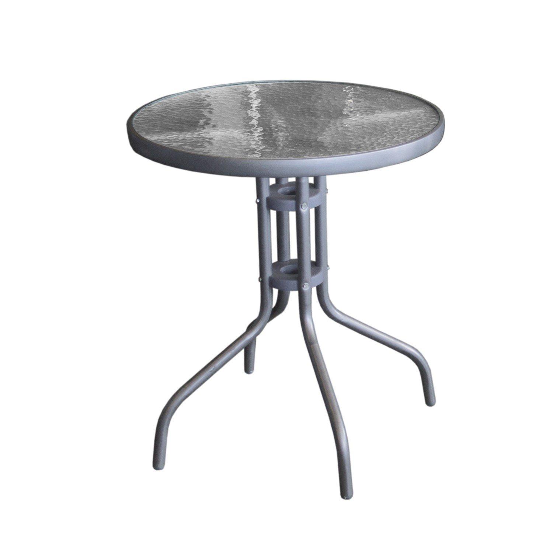 Gartentisch Glastisch Ø60cm Anthrazit günstig bestellen