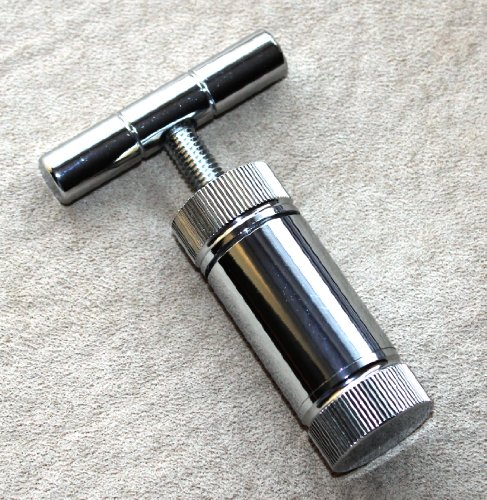 """T Press Tool 3.5"""" Engineered Brass Cylinder Heavy Duty Metal T Shape, Spice Pollen front-538397"""