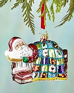 """Christopher Radko Winter Dreamer Glass Santa Christmas Ornament - New for 2014 - 5""""l. - 1017364"""