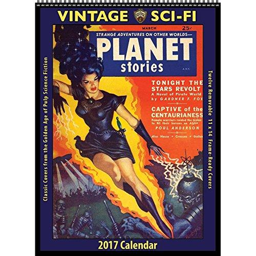 2017 Vintage Sci-Fi Calendar (Vintage Scifi Calendar compare prices)