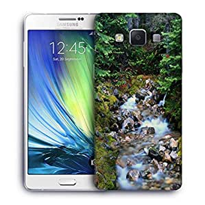 Snoogg White Water Flowing Printed Protective Phone Back Case Cover For Samsung Galaxy A7