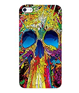 printtech Skull Abstract Pop Back Case Cover for Apple iPhone 4::Apple iPhone 4S