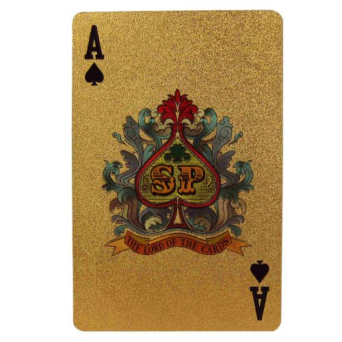 Novelty Playing Cards Deck in 999.9 Gold Plating Unusual Gift From India by ShalinIndia