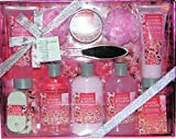 11 Piece Cherry Blossom Deluxe Shower Bath Spa Gift Set