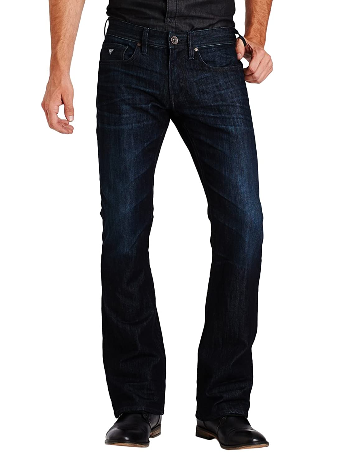 GUESS Men's Regular Bootcut Jeans in Riverfront Wash guess shoes jeans pumps