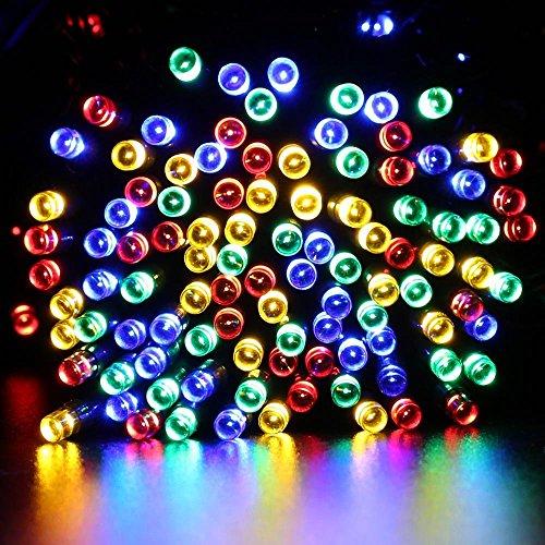 HDS-TEK HDS-LED-MU Decorative Solar Powered Christmas Lights 200