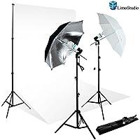 LimoStudio AGG711 700W Light Photo Video Umbrella Lighting Kit (Black)