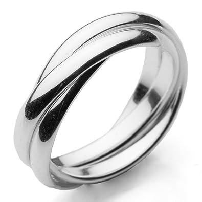 Not expensive Zsolt wedding rings Interlocking mens wedding ring