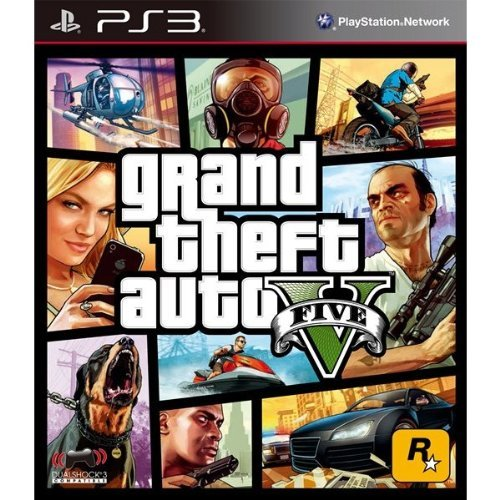 Grand Theft Auto V FIVE 5 English, French, Brazilian Portuguese, Korean, Traditional Chinese, Latin American Spanish [Region Free International Edition] [PlayStation 3]