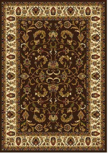 Traditional Area Rug, Home Dynamix Royalty 8'x11' Brown Ivory