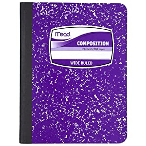 Composition Book by Mead, Wide Ruled, 100 Sheets, Fashion Purple, (72247)