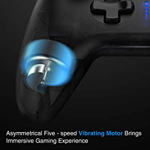 Game Controller, GameSir T4 PC Controller 2.4 GHz Wireless Game Controller Joystick with Dual-Vibration for Windows 7/8/10