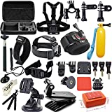 Soft Digits 42-in-1 Basic Common Outdoor Sports Kit Accessories for All Gopro Hero4 Silver Black Hero 4 3+ 3 Sj4000 Sj5000 Sj6000 Sports Camera