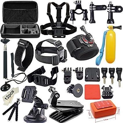Soft-Digits-42-in-1-Basic-Common-Outdoor-Sports-Kit-Accessories-for-All-Gopro-Hero4-Silver-Black-Hero-4-3+-3-Sj4000-Sj5000-Sj6000-Sports-Camera