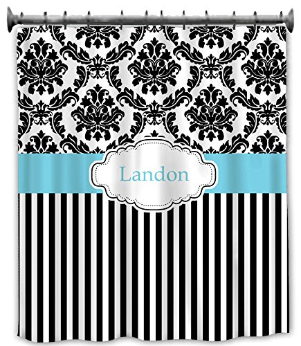 aBaby Custom Damask Personalized Shower Curtain, Name Landon (Ababy Personalized Shower Curtain compare prices)
