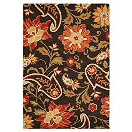 "Product Image Fieldcrest® Luxury Jacobean Floral Wool Rug - Brown (96x132"")"