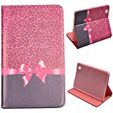 Voguecase Slim Fit Leather Case Cover for Samsung Galaxy T320 GALAXY Tab Pro 8.4 (Pink Bow and Leopard) + Free Universal Screen-Stylus