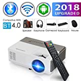 Pocket Bluetooth WiFi Wireless Mini Projector with HDMI Built-in Speaker Support 1080p HD Airplay Screen Mirror, Multimedia Digital Portable Video Projector for Gaming Basement Movie Art Tracing (Color: Mini Projector 1500 Lumens Wifi Bluetooth)