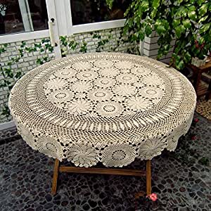 Amazon.com - Ustide Handmade Tablecloth Handmade Crochet