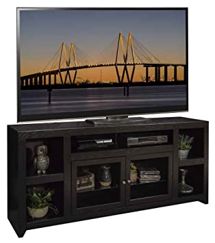65.06 in. TV Cabinet in Mocha Finish
