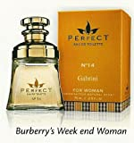 Perfect N14 Gabrini Eau De Toilette 75ml for woman. Scent similar to the original Burberry's Week end Woman