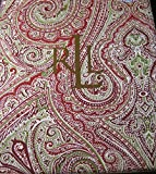 Ralph Lauren Fenton Paisley/ Red-Green Tablecloths- Assorted Sizes - 100% Cotton (60 x 84)
