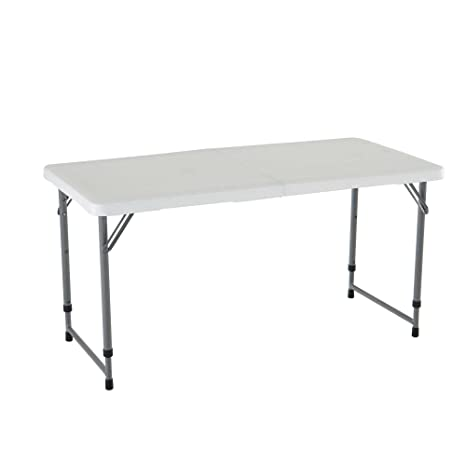 Lifetime 4 Foot Adjustable 4428 Height Folding Utility Table