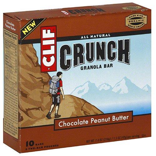 Clif Bar Organic Chocolate Peanut Butter Crunchy Granola Bar, 7.4 Ounce -- 12 Per Case.