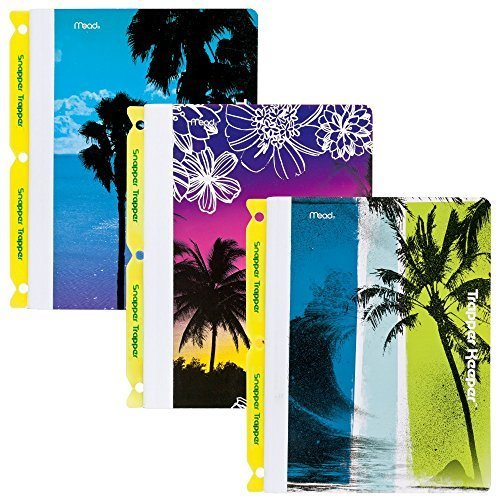 mead-trapper-keeper-composition-books-with-snapper-trapper-notebooks-wide-ruled-fun-in-the-sun-3-pac