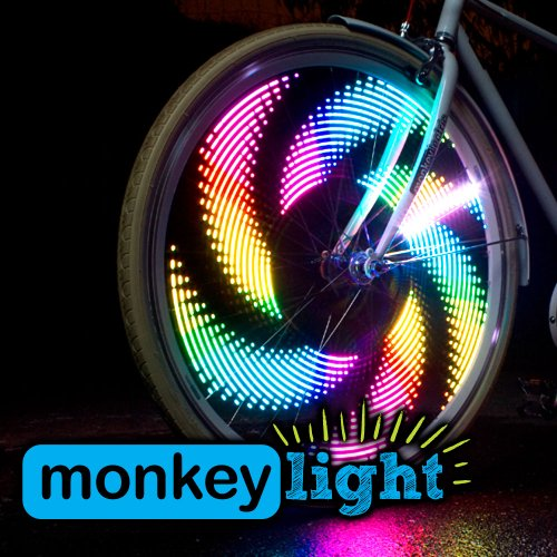 Monkey Light M232 Bike Light - 32 Full Color LEDs - 42 Patterns - Waterproof