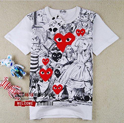 2014 New Love Heart Play Series Snow White Seven Dwarfs T-Shirt