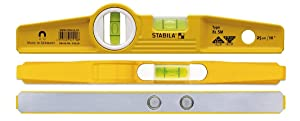 Stabila 81s-10mh Magnetic Level and Holster 2511 (Color: Yellow/Black, Tamaño: Level and holster)