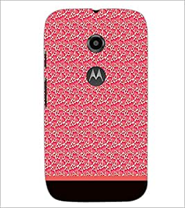 PrintDhaba Heart Pattern D-1905 Back Case Cover for MOTOROLA MOTO E2 (Multi-Coloured)