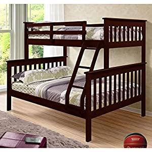Donco Kids Twin Over Full Mission Bunk Bed