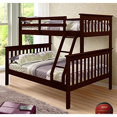 Donco Kids Twin Over Full Mission Bunk Bed (Kids Full Beds compare prices)