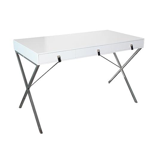 Design Schreibtisch HERITAGE weiß Schubladen Burotisch Tisch Buro Tische Office
