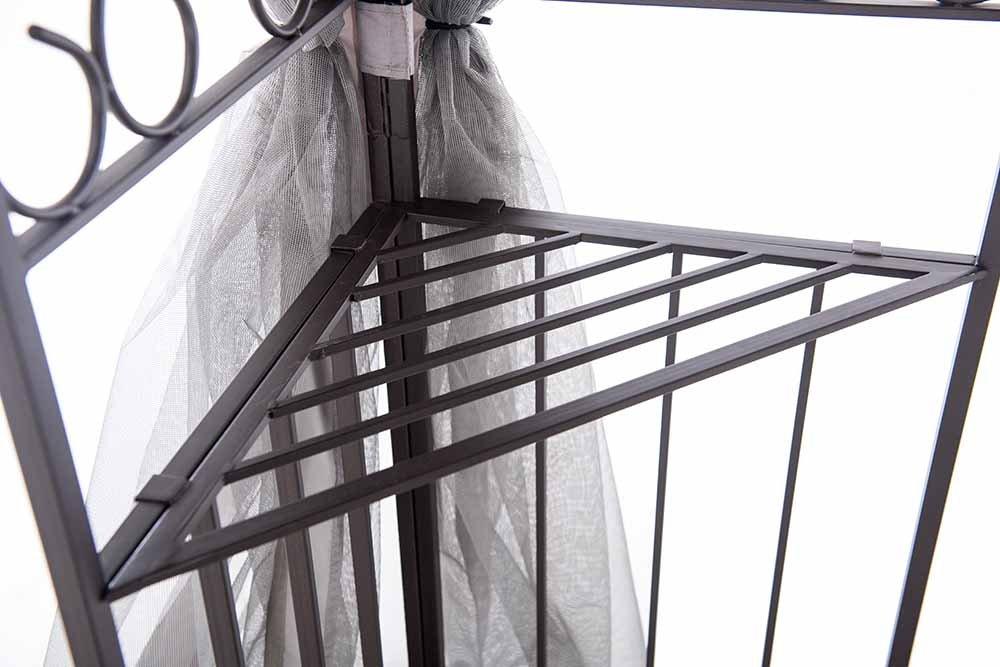 sunjoy 10 x 12 Monterey Gazebo with Netting,Gray with Black