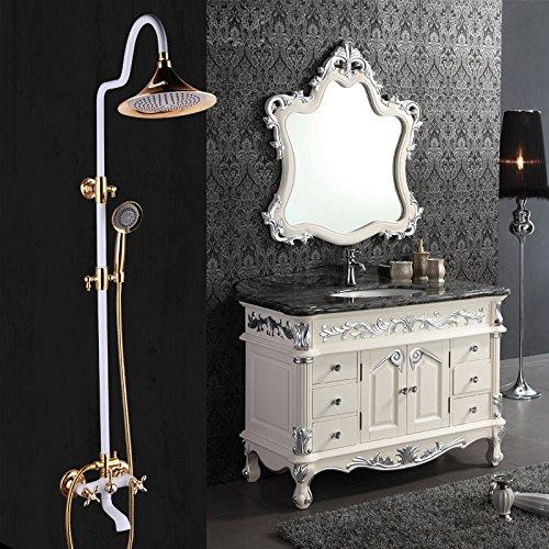 CAC Dipinto di bianco di titanio Bagno doccia rubinetto imposta europea oro rame Vintage