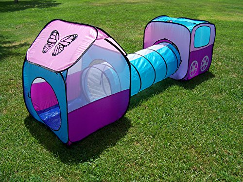 Kids Pop Up Girls Play Tent Set With Tunnel, Play Ground, Room, New Child Play Hut. Inside - Outside.