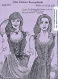 Easy Renaissance Women's Peasant Outfit Pattern